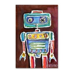 Trademark Fine Art 'Robot Boy' Canvas Art by Wyanne, Size: 22 x 32 Artist Canvas, Canvas Art, Baby Clothes Shops, Canvas Size, Wrapped Canvas, Find Art, Framed Artwork, Giclee Print, Art Pieces