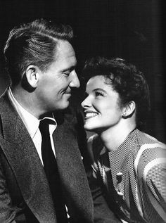 Katharine Hepburn + Spencer Tracy.