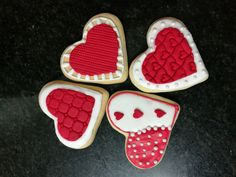 Valentines hearts_ sugar art_fondant figurine South Africa email: liankaerasmus@gmail.com