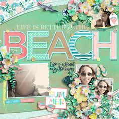 Layout by ChaosLounge. Digital scrapbooking product: At the Seaside Templates by Heartstrings Scrap Art and Aimee Harrison Designs