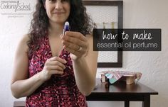 How to Make Essential Oil Perfume | I've wanted to wear perfume all my life, but couldn't because I got headaches every time I put it on. Recently, I started making my own perfume using essential oils... and I couldn't be more thrilled. Now I can wear perfume without getting headaches. And in fact, my perfumes improve how I feel! Here's how to make your own essential oil perfume (video and print). | TraditionalCookingSchool.com