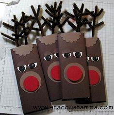 Rudolph the Reindeer Candy Bar by stacey carter - Cards and Paper Crafts at Splitcoaststampers