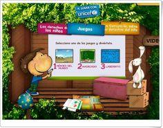 """Juegos de """"Los Derechos del Niño"""" Juegos  de Unicef para celebrar el 20 de noviembre el Día Interancional de los Derechos de la Infancia."""