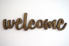 welcome wood sign, wall art, home decor, entrance door by StoriaDellOrso on Etsy https://www.etsy.com/listing/214966815/welcome-wood-sign-wall-art-home-decor