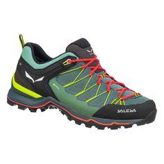 Tří sezónnídámské boty Salewa Ws Mtn Trainer Lite Gtx s mezipodešví EVA pro větší komfort a skvělou podrážkou, která vynikne především na sněhu, bahně, nebo při zdolávání skály Nylons, The North Face, Drop, Gore Tex, Sport, Hiking Boots, Trainers, Running Shoes, Trekking