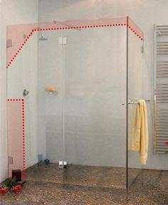 Best Die Richtige Tür Für Ihre Dusche Images On Pinterest - Dusche glaswand statt fliesen