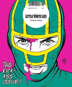 Little White Lies: The Kick-Ass issue (2010) Design Director Paul Willoughby  #CoverDesign #LittleWhiteLies