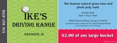 Ike's Driving Range  $2.00 OFF Any Large Bucket of Balls