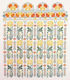 Gracewood Stitches - Art Nouveau panel