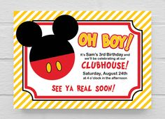 Mickey+Mouse+Clubhouse+Birthday+Invitation+by+SimplySaidbyCourtney,+$10.00