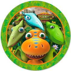 Pack of 8 large Dinosaur Train paper plates.These party plates featuring Buddy, Tiny, Shiny, and Don will liven up the table at any Dinosaur Train party! Dino Train, Dinosaur Train Party, Dinosaur Birthday Party, Boy Birthday, Dinosaur Cake, Third Birthday, Train Party Supplies, Dinosaur Party Supplies, Discount Party Supplies