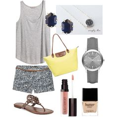 Nice & Navy by southerncoasts on Polyvore featuring Simplychic.me, H&M, Scotch & Soda, Tory Burch, Longchamp, Burberry, Kendra Scott, Laura Mercier and Butter London