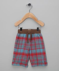 Take a look at this Red & Blue Plaid Organic Pants - Infant & Toddler by Kite Kids on #zulily today!