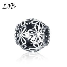 Cheap fine jewelry, Buy Quality jewelry beads directly from China jewelry making Suppliers: MUTO Stunning 925 Sterling Silver Daisy Charm Openwork Beads Fit Bracelet SVBAngle Fine Jewelry Making Sterling Silver Flowers, Sterling Silver Bracelets, Silver Charms, 925 Silver, Pandora Chain Bracelet, Diy Bracelet, Pandora Charms, Fine Jewelry, Jewelry Making