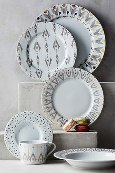 Ikat Thistle Dinner Plate - anthropologie.com ($28.00)