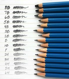 Here's something to remember when picking out pencils. Why didn't I have this sooner is beyond me.