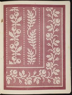 Filet Crochet Charts, Crochet Borders, Knitting Charts, Cross Stitch Charts, Knitting Patterns, Crochet Patterns, Crochet Tablecloth, Crochet Doilies, Collar Designs