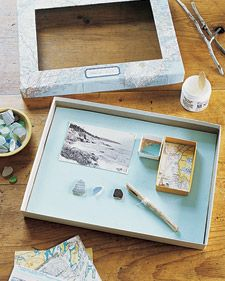 maps - Preserve Vacation Memories in Shadow Boxes - Martha Stewart Crafts