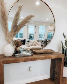 Boho home style console table – Decorating Foyer Console Table Styling, Entryway Console Table, Entryway Table Modern, Console Table Living Room, Modern Console Tables, Hallway Table Decor, Entryway Decor, Foyer, Boho Chic Entryway