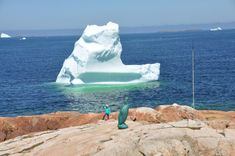 The great Auk statue and an iceberg on a nearby hike - Picture of Fogo Island Inn, Joe Batt's Arm - Tripadvisor Fogo Island Newfoundland, Great Auk, Fogo Island Inn, Island Pictures, Trip Advisor, Hiking, Statue, Photo And Video, Outdoor