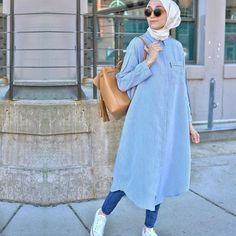 Hijab Fashion 2016, Modern Hijab Fashion, Muslim Fashion, Suit Fashion, Modest Fashion, Fashion Outfits, Casual Hijab Outfit, Hijab Chic, Hijab Dress