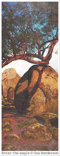 painted at Sisters Rocks near The Grampians