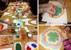"""I made a 4-leaf clover tracer and had them write """"I am lucky because..."""" in the center. Very sweet and fun activity."""