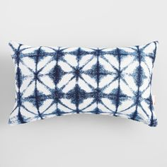 Made of high-quality Sunbrella performance fabric, our comfort-enhancing lumbar pillow boasts an indigo-blue watercolor tile pattern and plush filling. Cheap Throw Pillows, Outdoor Throw Pillows, Accent Pillows, Sunbrella Outdoor Cushions, Outdoor Dog Bed, Indoor Outdoor, Outdoor Decor, Mold And Mildew, Tile Patterns