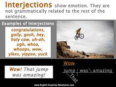 Interjections Poster Sentence Diagramming Grammar
