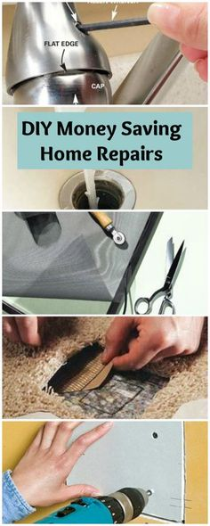 DIY Money Saving Home Repairs • Lots of Tutorials!.Tutoriales de reparaciones caseras por poco dinero.