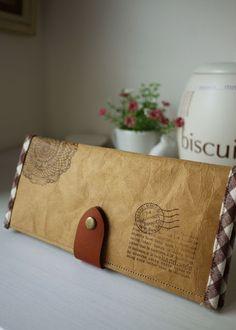 Washable Kraft Paper Long Wallet