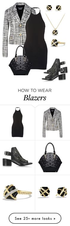 """""""Office to Evening"""" by dolenka on Polyvore featuring Boutique Moschino, McQ by Alexander McQueen, Balmain and David Yurman"""