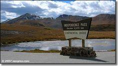 Independence Pass (eleva 12,095 ft)  Continental Divide  Near Aspen Colorado