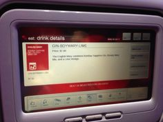 It's Now Possible to Send That Hottie in Another Row a Drink on Virgin America || Jaunted