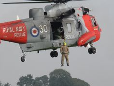 Royal Navy Sea King winch training with the Scottish Fire & Rescue Service September 2014 Perth Airport, Search And Rescue, September 2014, Coast Guard, Royal Navy, Helicopters, Fighter Jets, Aviation, Aircraft