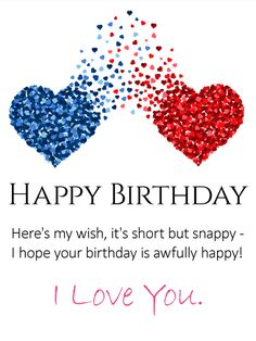 "To my Beloved Husband - Happy Birthday Card: This Birthday Greeting for your hubby is short and sweet yet none-the-less meaningful. He's sure to love the ""short but snappy"" sentiment! If overtly sentimental greetings aren't your thing - then this cute Happy Birthday card is well-suited for the man in your life!"