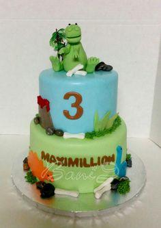 bani bakery, dino theme cake