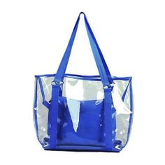 Women Beach Bag Jelly Candy Clear Transparent Handbag Tote Shoulder Bags