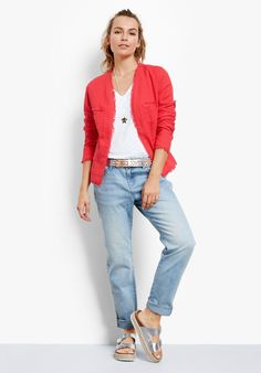 Buy Audrey Jacket from Hush: The Audrey relaxed summer jacket is the epitome of chic styling and will effortlessly sharpen-up any outfit. Wear with jeans and a simple tee, or over a dress for smarter occasions.