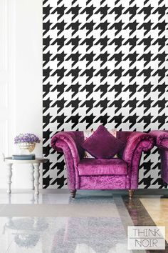 20 % OFF Hounds Tooth Pattern Removable Wallpaper by ThinkNoir