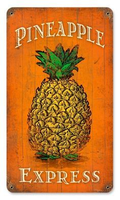 Houseplants for Better Sleep Vintage Pineapple Express Metal Sign 8 X 14 Inches Man Cave Garage, Vintage Room, Retro Vintage, Vintage Ideas, Vintage Labels, Vintage Trends, Vintage Stuff, Vintage Travel, Pineapple Express