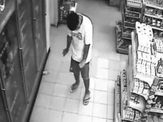 Man Possessed By Ghost Caught On Store Surveillance Camera. This store surveillance footage shows a man walking over to the cooler door when all of a sudden .