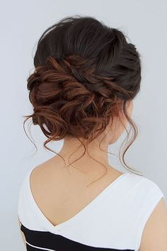 wedding updos interesting braided bun