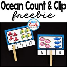 These FREE Ocean count and clip cards are perfect for end of the year or summer review. There are two formats: self-checking or one-sided, regular cards.