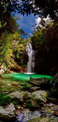 Cachoeira Santa Barbara | Chapada dos Veadeiros, Cavalcante, Goiás, Brasil.