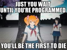 """This is a quiz that features 8 unique Yandere Simulator characters from the February 2016 build. I thought it would be fun to make, and whenever you play, you can say """"That's me~""""! Yandere Simulator Characters, Yandere Simulator Memes, Kubz Scouts, Video Minecraft, Fanfiction, Yandere Girl, Pokemon, Fan Art, Wattpad"""