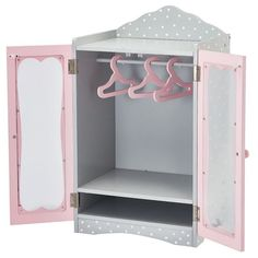 Olivia's Little World 18-Inch Classic Doll Closet Furniture Set, Multicolor