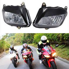 Motocycle Black Headlight Head Light lamp Assembly For Honda CBR 600 RR CBR600RR F5 2007 2008 2009 2010 2011 2012