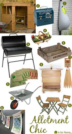'Allotment Chic' mood board | @H is for Home