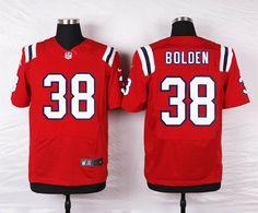 Men's New England Patriots #38 Brandon Bolden White Road NFL Nike ...